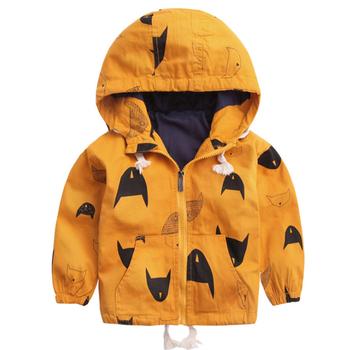 Kurtki dla dzieci dla chłopców 2020 wiosna moda wiatrówka bluzy kurtka dzieci płaszcze jesień dziecko odzież wierzchnia dla chłopców i dziewcząt odzież tanie i dobre opinie BEKE MATA COTTON Cartoon REGULAR Z kapturem Pełna Pasuje prawda na wymiar weź swój normalny rozmiar Płótno B-CCD004