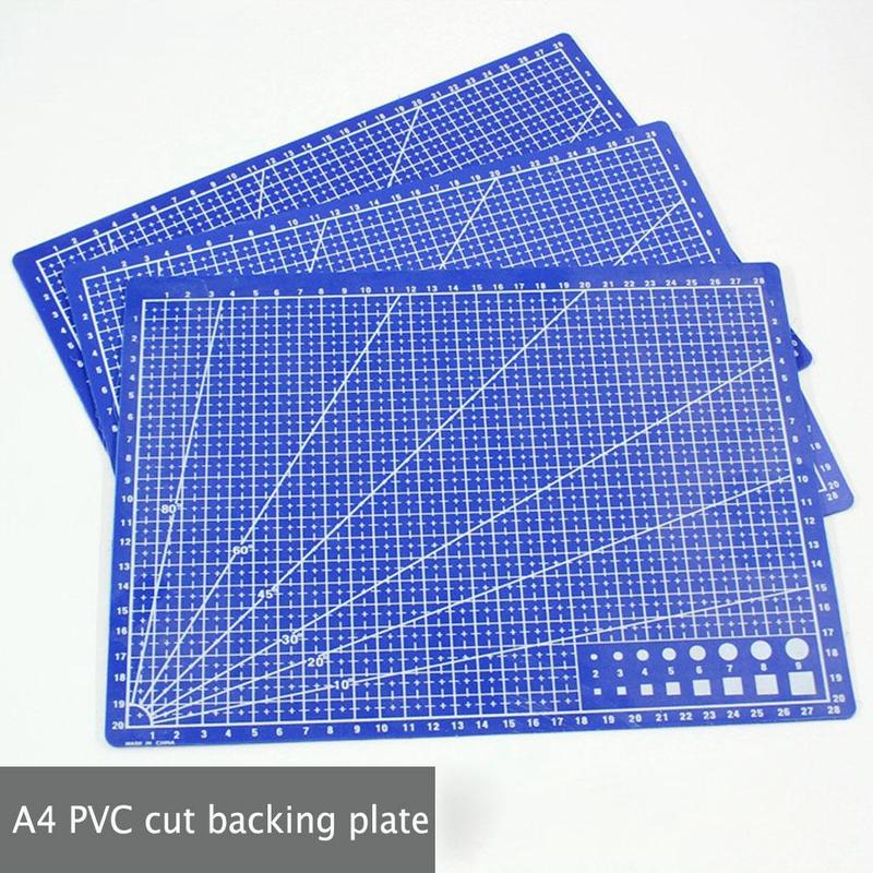 Brand New 30*22cm A4 Pvc Cutting Backing Plate Mesh Line Self-healing Cutting Felt Process Card Kraft Board