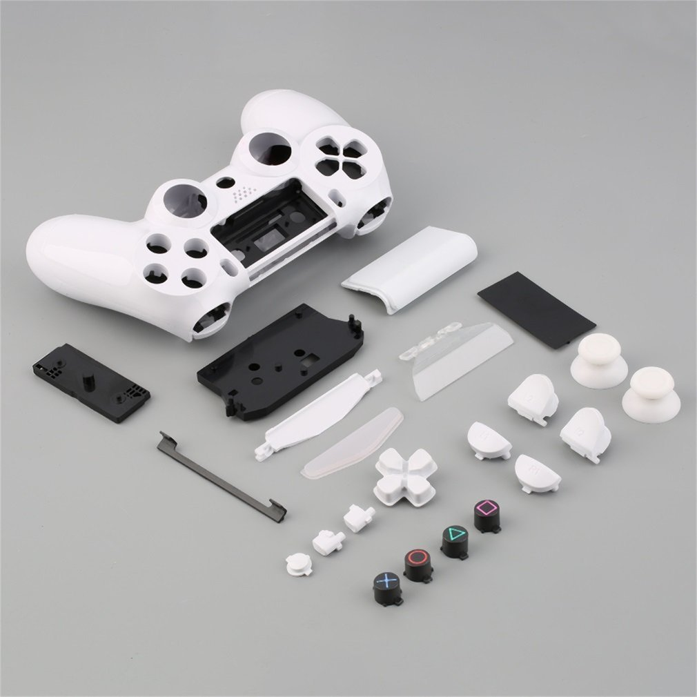 NEW Gamepad <font><b>Controller</b></font> Housing Shell W/Buttons Kit for <font><b>PS4</b></font> Handle Cover <font><b>Case</b></font> White Purple Hot Selling image