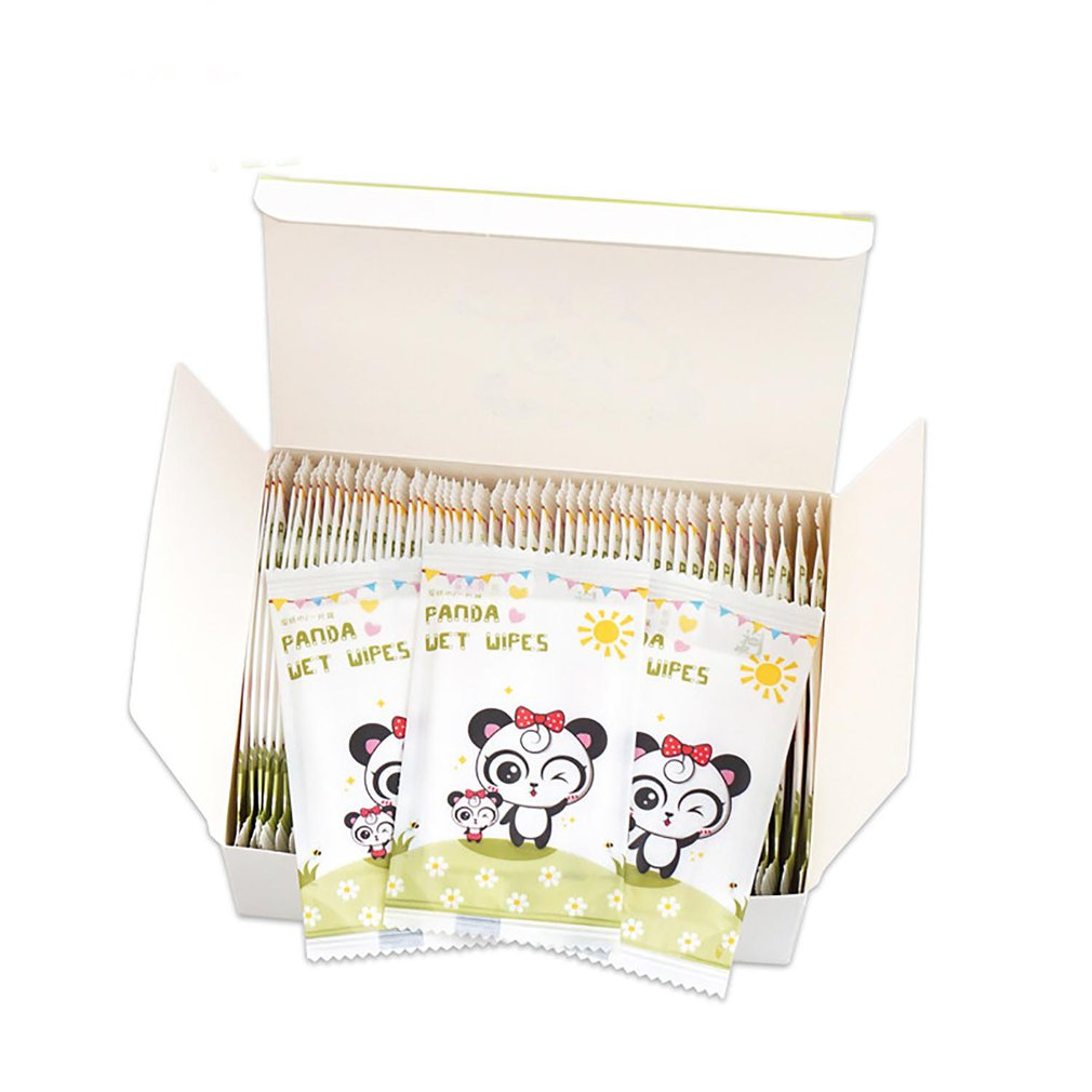 50pcs Girl Children Wet Wipe Wet Towel Sterilizer Travel Adult Wet Wipes Portable Essential Care Hand-mouth Non-woven