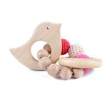 Детские Бук деревянная кормящих Браслеты деревянный Прорезыватель