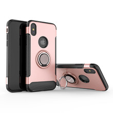 Luxury 360 degree magnetic shockproof finger Ring holder stand case For Apple iPhone X XR XS MAX 7 8 plus 6 6s plus cover цена и фото