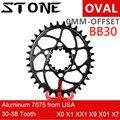 Каменная овальная Звездочка для BB30 0 мм 0 мм смещение XX1 Eagle X01 X7 X0 X9 S1400 30T 32 34 36 38 Велосипедное прямое Крепление цепное колесо для sram