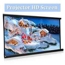 High Brightness Foldable 100 inch HD Screen Canvas 16:9 Projector Front Home Theatre Projection Screen Movie Projector Screen