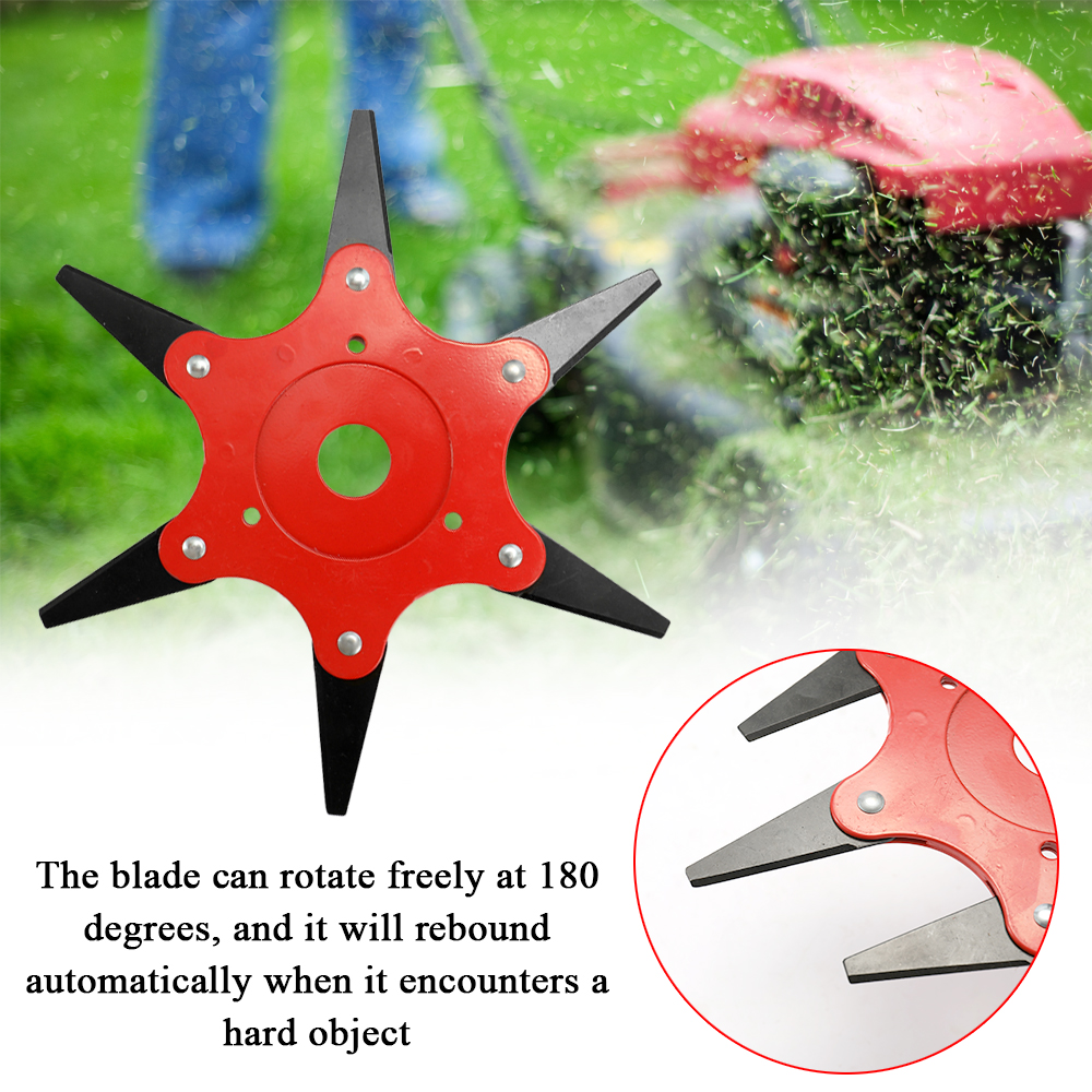 180 Degrees Rotatable Lawn Mower Blade Brush Cutter Universal Garden Grass Trimmer Blades with Double sided Cutting Edge in Lawn Mower from Tools