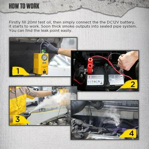 Image 3 - AUTOOL SDT202 SDT206 자동차 자동차 연기 기계 파이프 스모그 생성기 누출 감지 누설 감지기 진단 12V 자동 복구