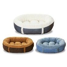 JORMEL جولة سرير كلب لكلب قط الشتاء الدافئة النوم المتسكع حصيرة جرو تربية الكلاب الاليفة السرير آلة قابل للغسل