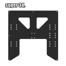 Black Upgrade Y Carriage Anodized Aluminum Plate For A8 Hotbed Support board For Prusa I3 Anet A8 A6 3D Printers DIY parts