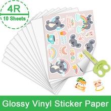 Sticker Paper Inkjet-Printer Self-Adhesive-Pattern Vinyl Waterproof 10-Sheets for DIY
