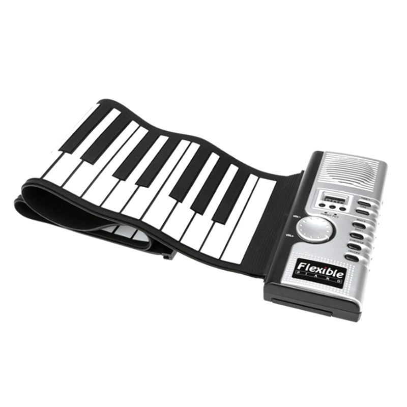 Initiative Portable 61 Keys Professional Smart Folding Piano Silicone Hand-rolled Electronic Pianos Beginner Instrument
