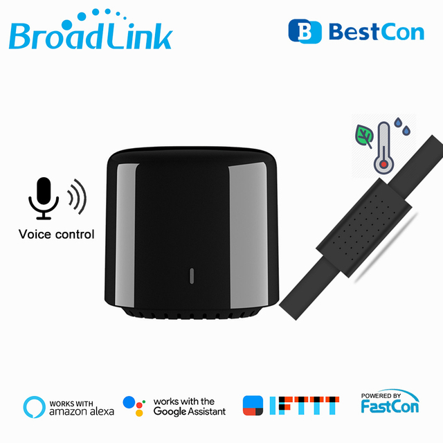 Broadlink Bestcon RM4C Mini WiFi IR Remote Controller Automation Modules HTS2 Smart Humidity Temperature Sensor Alexa Compatible