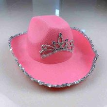 Chapéu de vaqueiro chapéu de vaqueiro chapéu de vaqueiro chapéu de vaqueiro cor-de-rosa de tiara para mulher