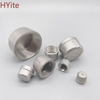 304 stainless steel inner silk tube cap/head/tube plug pipe fittings 1/8 1/4 3/8 1/2 3/4 1 1-1/4 1-1/2 Female Thread