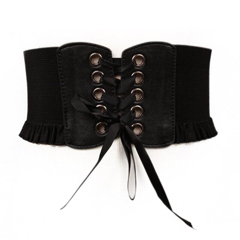 Fashion Wide Corset Belt Female Elastic Waist Belt Female Vintage Stretch Dress Corset Ladies Waist Qz0041