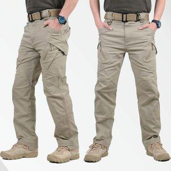Męskie miejskie taktyczne spodnie wojskowe dorywczo oddychające szybkie suche SWAT bojowe spodnie wojskowe męskie wiele kieszeni wodoodporne spodnie Cargo tanie i dobre opinie ALIGIAOGIAO Cargo pants CN (pochodzenie) Wysokiej Mieszkanie Poliester COTTON Kieszenie Luźne 2 49 - 3 78 Pełnej długości