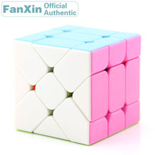 FanXin Moving Flying Edge 3x3x3 Magic Cube 3x3 Professional Speed Puzzle Twisty Brain Teaser Antistress Educational Toys For Kid 3x3x3 brain teaser magic iq cube