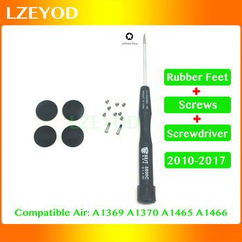 "New For Macbook Air 11"" 13"" A1370 A1465 A1369 A1466 Bottom Case Cover Rubber Feet/Screws/Screwdriver 2010-2017 Year 1"