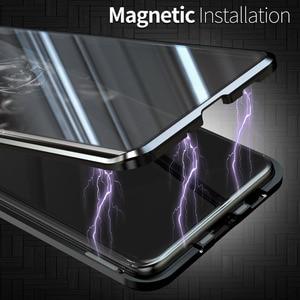 Image 3 - Magnetische Flip Case Voor Samsung Galaxy S20 Ultra S20 Plus Case Dubbelzijdig Gehard Glas Bumper Cover Voor Samsung s20 S 20 Capa