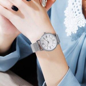 Image 4 - 洗練されたエレガントなダイヤモンド高品質超薄型女性ステンレス鋼メッシュ防水女性ドロップシッピング