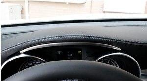 Image 4 - غير القابل للصدأ الصلب لوحة سيارة قطاع الكسوة لمرسيدس بنز C الفئة W205 GLC X253 2015 2018 اكسسوارات السيارات الداخلية