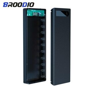 10*18650 caso de banco de potência dupla usb carregador do telefone móvel diy escudo com tela de exibição digital 18650 bateria titular caixa de carregamento