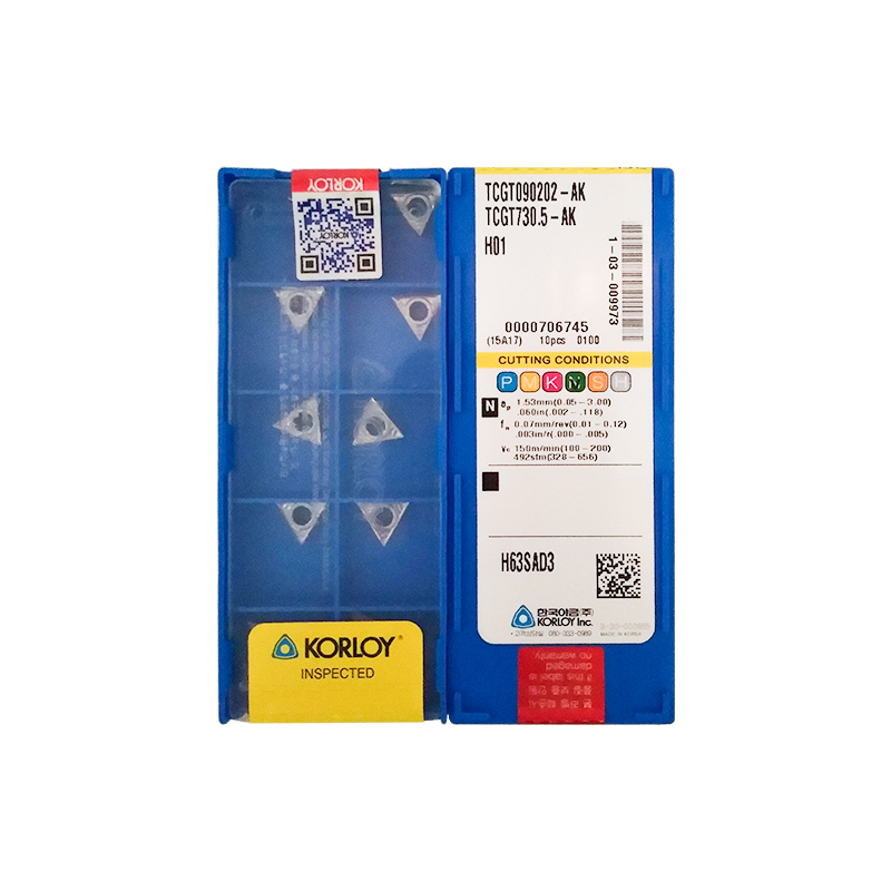 TCGT090202-AK H01 100% KORLOY Original Carbide Insert With The Best Quality 10pcs/lot Free Shipping