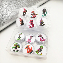 New Data Seting Ntag215 Collection Coin Card for Amiibo Splatoon 2 NFC Tag Sticker Printed Full Set 16pcs Fast Shipping