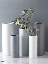 Floreros de cerámica blanca para decoración del Hogar, jarrón nórdico minimalista para decorar habitaciones