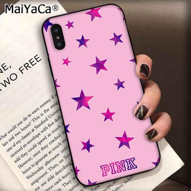 MaiYaCa ורוד חדש אהבה ורוד שחור טלפון מקרה כיסוי מעטפת עבור Apple iphone 11 פרו 8 7 66S בתוספת X XS מקס 5S SE XR מקרי