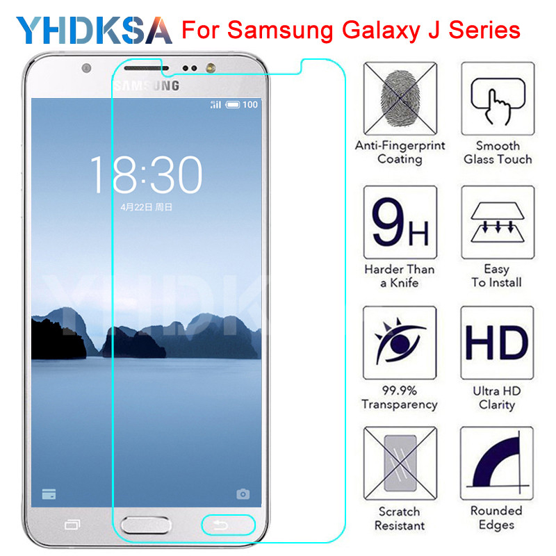 9H Tempered Glass on For Samsung Galaxy J3 J5 J7 2015 2016 2017 Screen Protector Protective Glass J2 J4 J6 J8 2018 Safety Film image