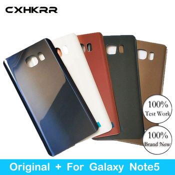 CXHKRR New original, For Samsung Galaxy  Note 5 Back Case Battery Cover Glass Housing Cover for Samsung Note 5 Door Rear Case for samsung galaxy note 8 n950 n950f n9500 back cover glass battery case rear door housing case back glass cover