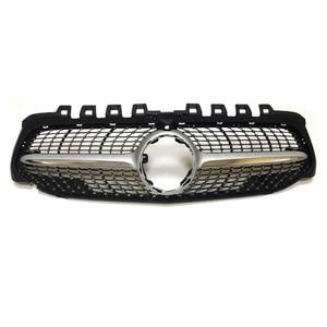 Image 5 - W177 Алмазная решетка переднего бампера гоночный автомобиль Стайлинг для Mercedes A200 спортивный седан передний гриль 2019