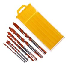 5Pcs/7Pcs Triangle Handle Alloy Multifunctional Drill Bits 3-12mm Blade Diameter for Electric Drill Accessories
