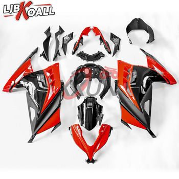 Red Black Bodywork Fairing Injection Set Gift Windshield For Kawasaki Ninja 300 EX300 EX300R EX-300R 2013 2014 2015 2016 2017