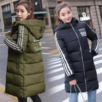 2019 New Long Parkas Women Winter Hooded Fashion jacket coats Zipper High street style Woman warm outwear Pocket