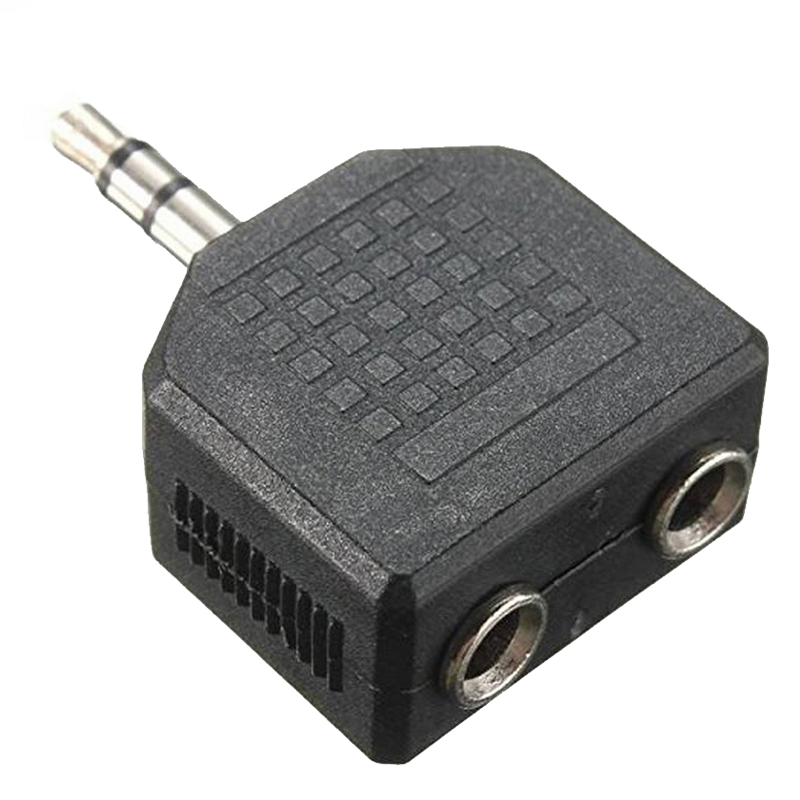 3.5mm Stereo Double Jack Headphone Splitter Adaptor 1 Plug To 2 Sockets Plug Splitter Y Adapter  For Call And Music