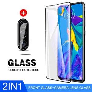 Защитный чехол для объектива камеры 2-в-1 для Huawei P30 P20 NovA 5 5t 5i 6, Защитное стекло для Honor 9X 20 Pro Lite, защитная пленка 9H