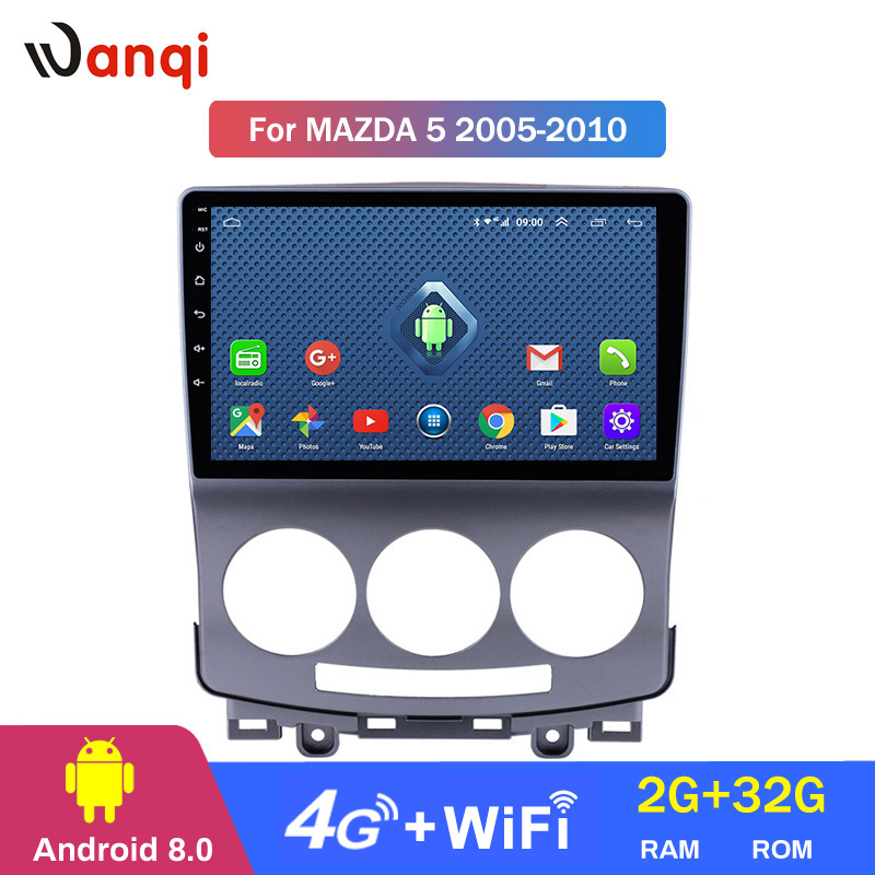 4G Lte All Netcom Android 8.0 Car Radio DVD Player for <font><b>Mazda</b></font> <font><b>5</b></font> 2005-2010 <font><b>GPS</b></font> Glonass Navigation Audio Video SWC image