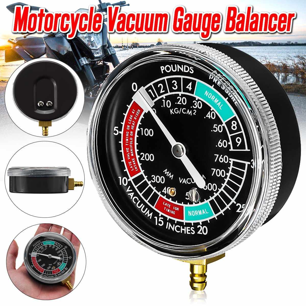 Car Motorcycle Fuel Vacuum Gauge Carburetor Carb Synchronizer Gauge Meter Balancer Gauge Tool Universal