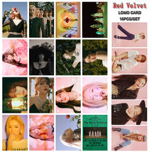 16pcs/set Kpop Red Velvet Lomo Card Postcard High quality HD photo print K-pop Red Velvet photocard new arrivals(China)