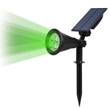 Dcoo Точечный светильник на солнечной батарее 4 светодиода Уличный