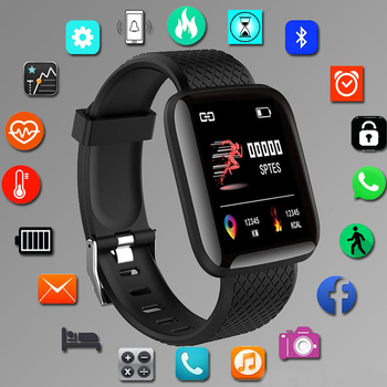 Smart Watches Smart Wristband LED Heart Rate Watch Men Women Sports Watches Smart Band Sport 116plus Smartwatch Free shipping цена 2017