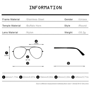 Image 4 - HEPIDEM bawoli róg okulary mężczyźni luksusowy gatunku projektanta okrągły diament dla kobiet nowy wysokiej jakości odcienie