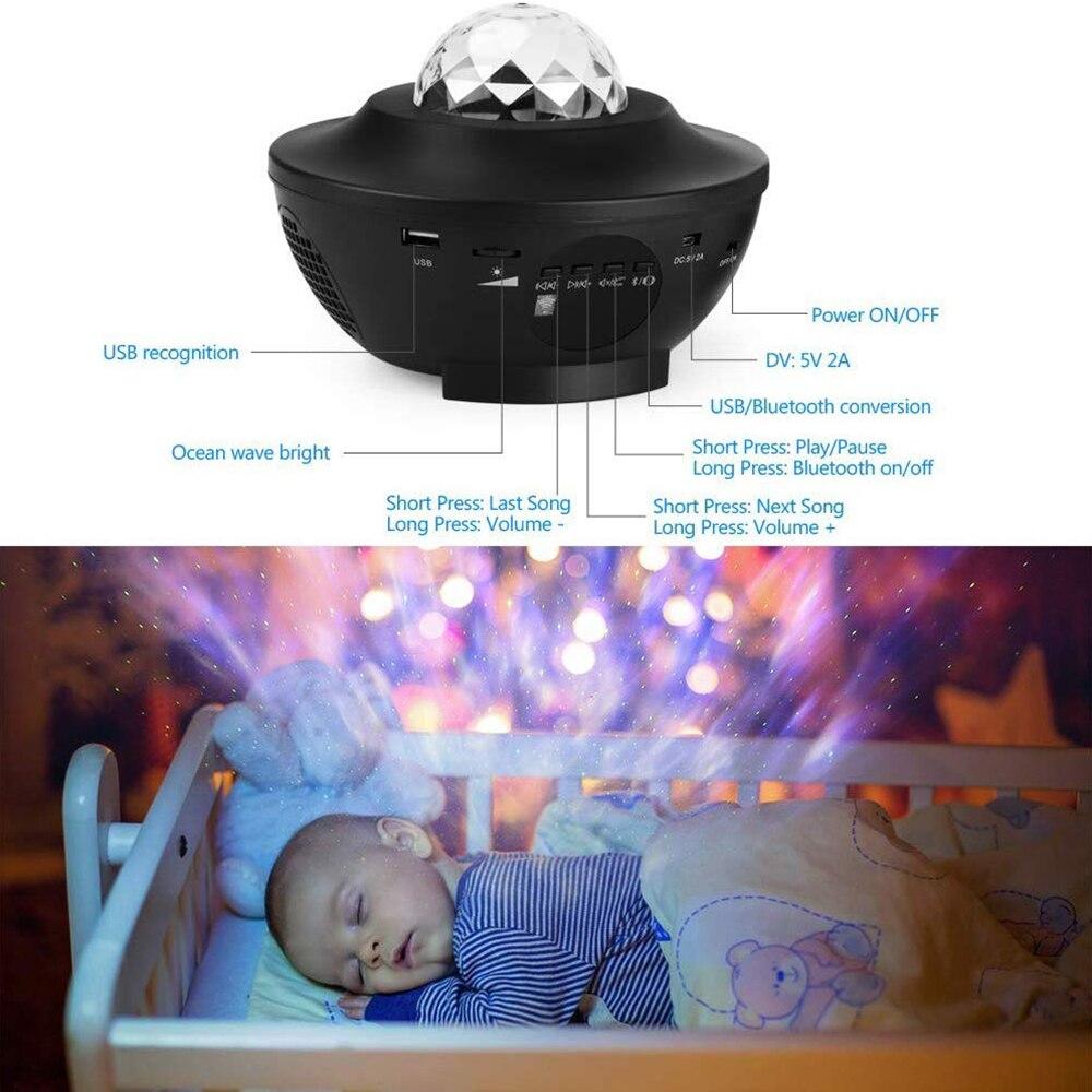 estrela mar lâmpada do projetor com temporizador