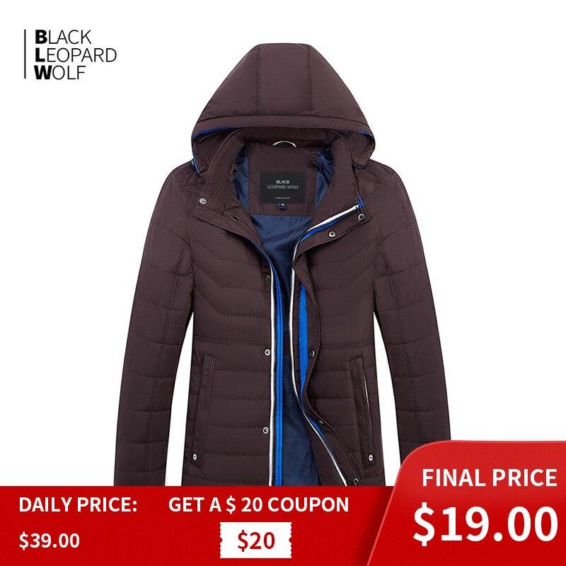 Blackleopardwolf 2019 nova chegada primavera jaqueta masculina de algodão fino com um capuz estilo moda para baixo jaqueta masculina primavera ZC-C562