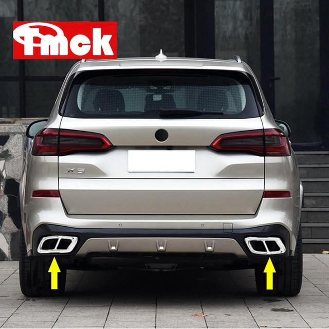 2 قطعة لسيارات BMW X5 G05 X7 G07 2019 الفولاذ المقاوم للصدأ سيارة الذيل الحلق العادم الأنابيب غطاء الكسوة ملصق الغطاء الواقي اكسسوارات جديد