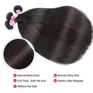 """Image 5 - UNICE שיער פרואני ישר שיער חבילות צבע טבעי 100% שיער טבעי הרחבות 8 30 """"רמי שיער Weave 1 pc שחור שישי עסקות"""