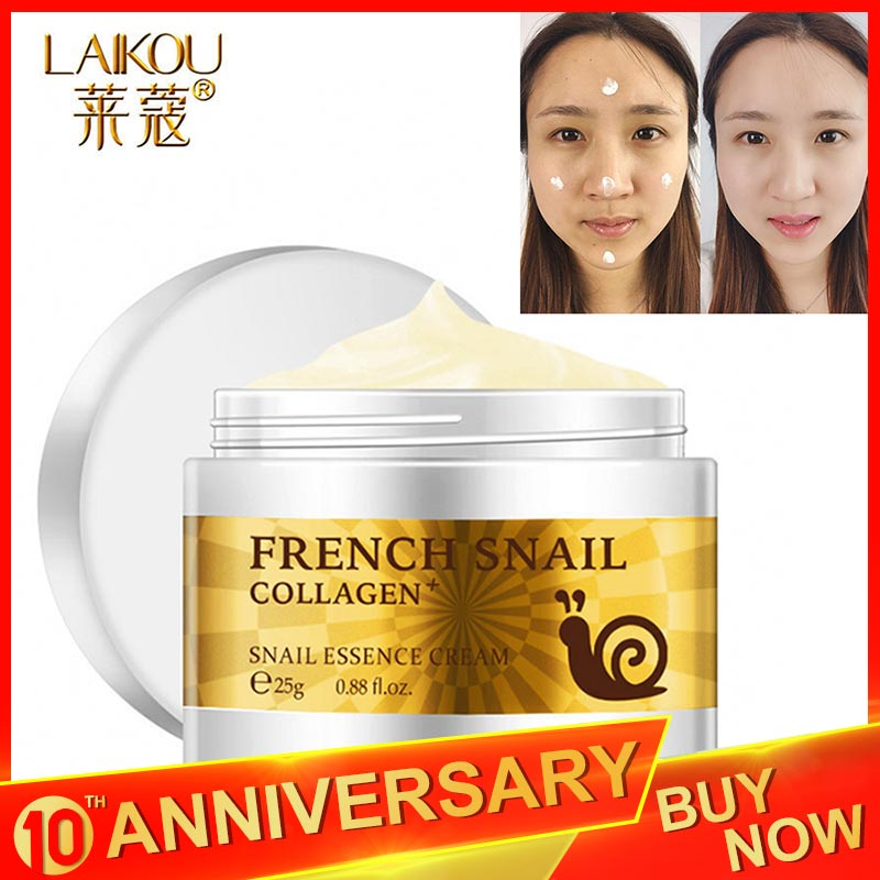 LAIKOU Brand Snail Face Cream Acne Scar Removal Cream For Face Skin Care Whitening Cream Snail Stretch Marks Nourishing For Face