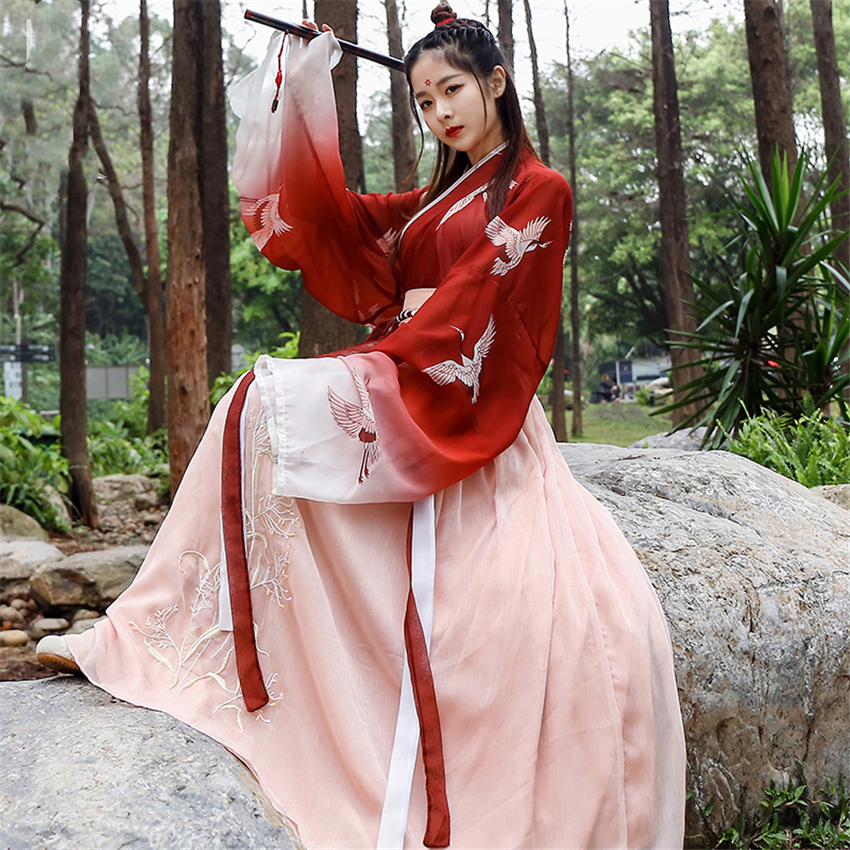 11Styles Woman Hanfu Dress Chinese Folk Dance Costumes Oriental Asian Qing Dynasty National Fairy Princess Photography Dress