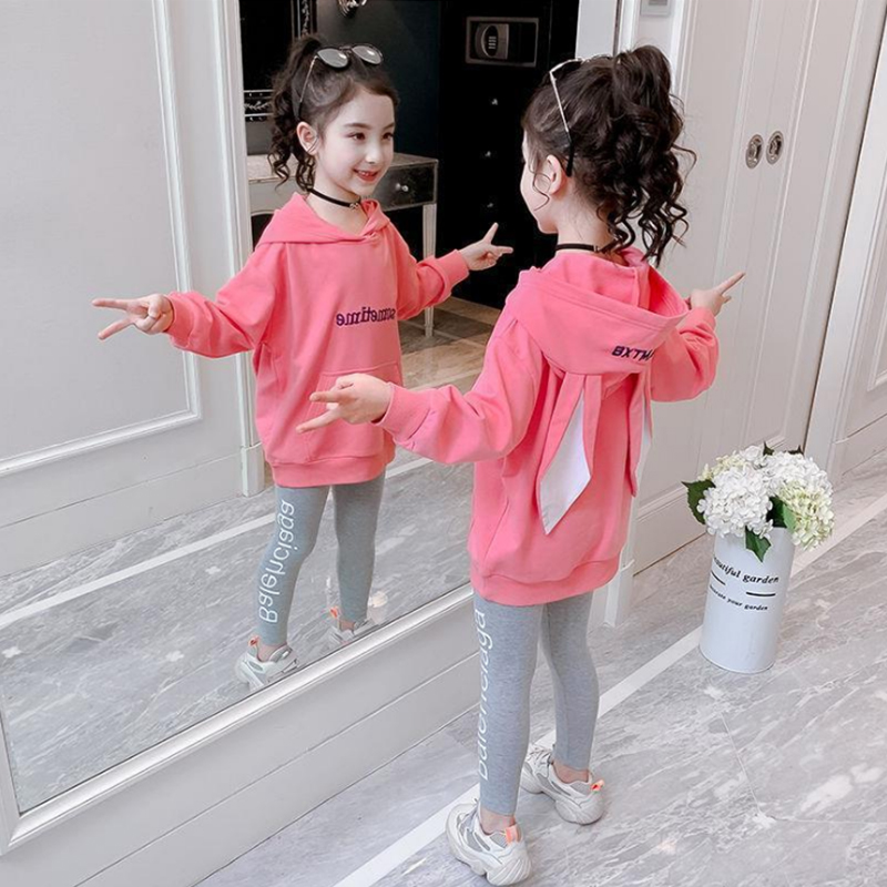 Fashion Girls Clothes Set Teen Girls Tracksuit Spring Autumn Long Sleeve 2pcs Children Suits Little Girl Sets 4 6 8 10 12 years 2